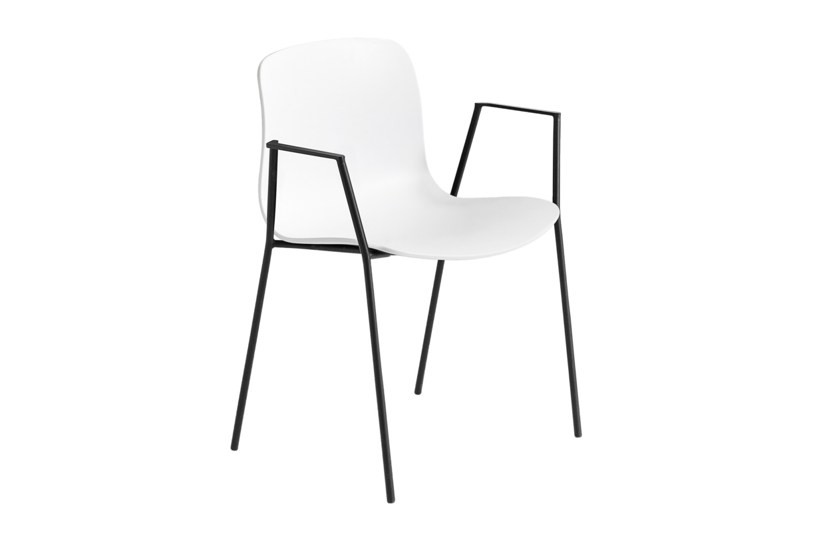About A Chair AAC18 White, Black Powder Coated Steel