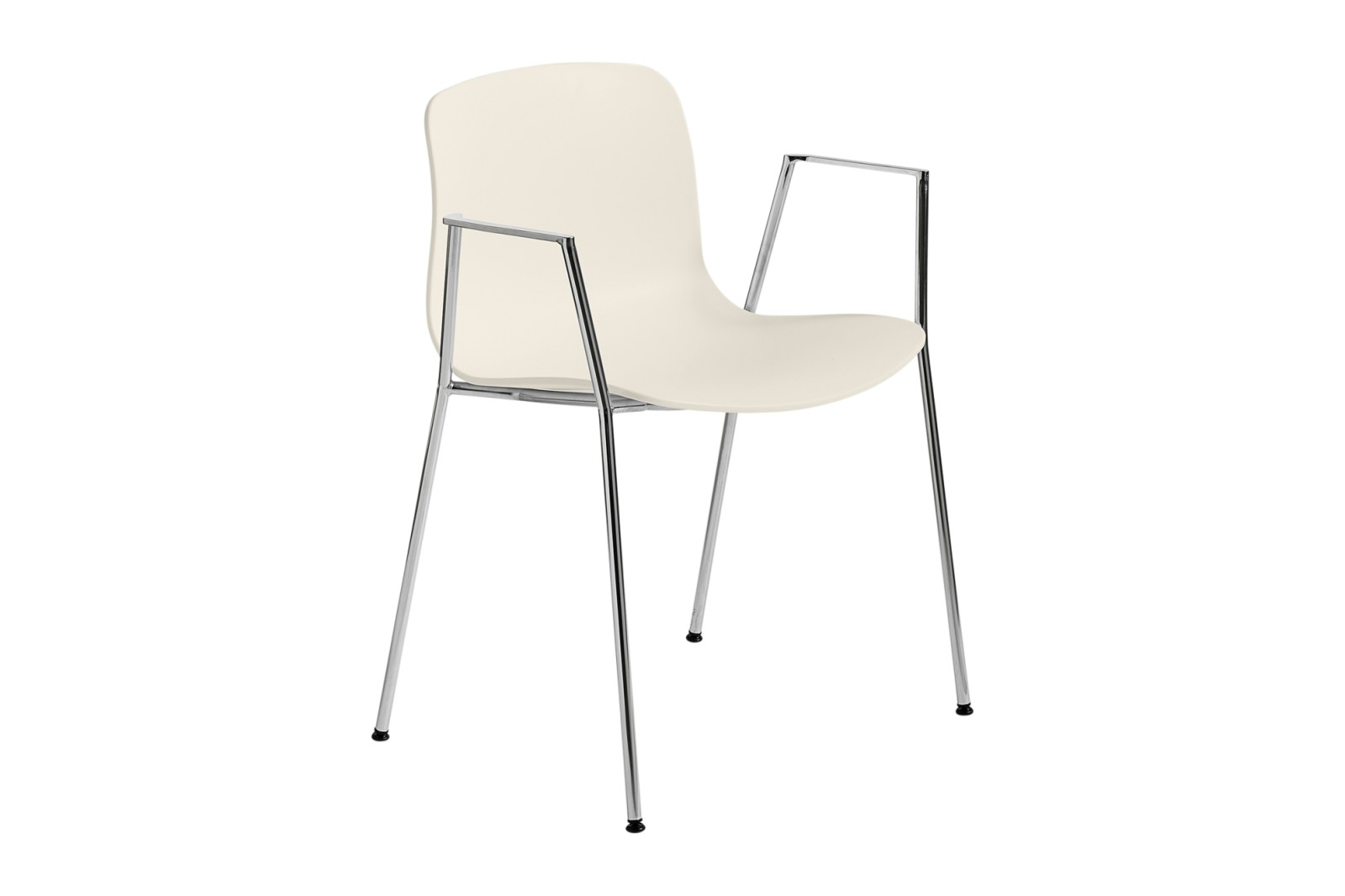 About A Chair AAC18 Cream white, Chromed Steel