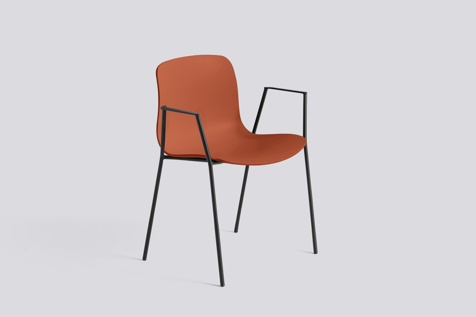 About A Chair AAC18 Orange, Black Powder Coated Steel