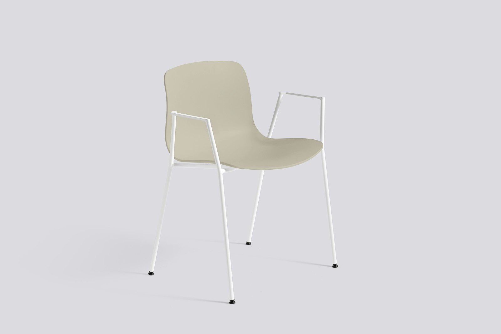 About A Chair AAC18 Pastel green, White Powder Coated Steel