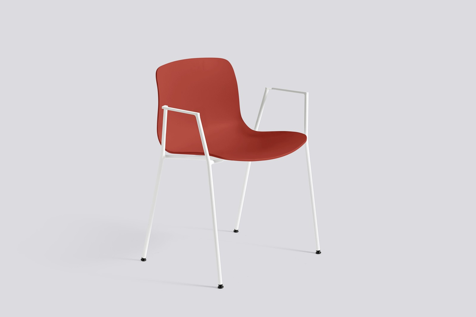About A Chair AAC18 Warm red, White Powder Coated Steel
