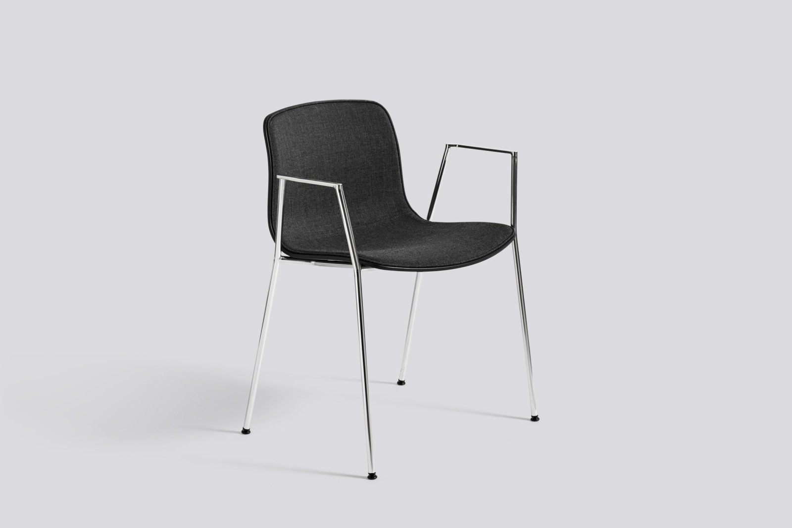 About A Chair AAC18 with front upholstery Surface by Hay 120, Black, White Powder Coated Steel