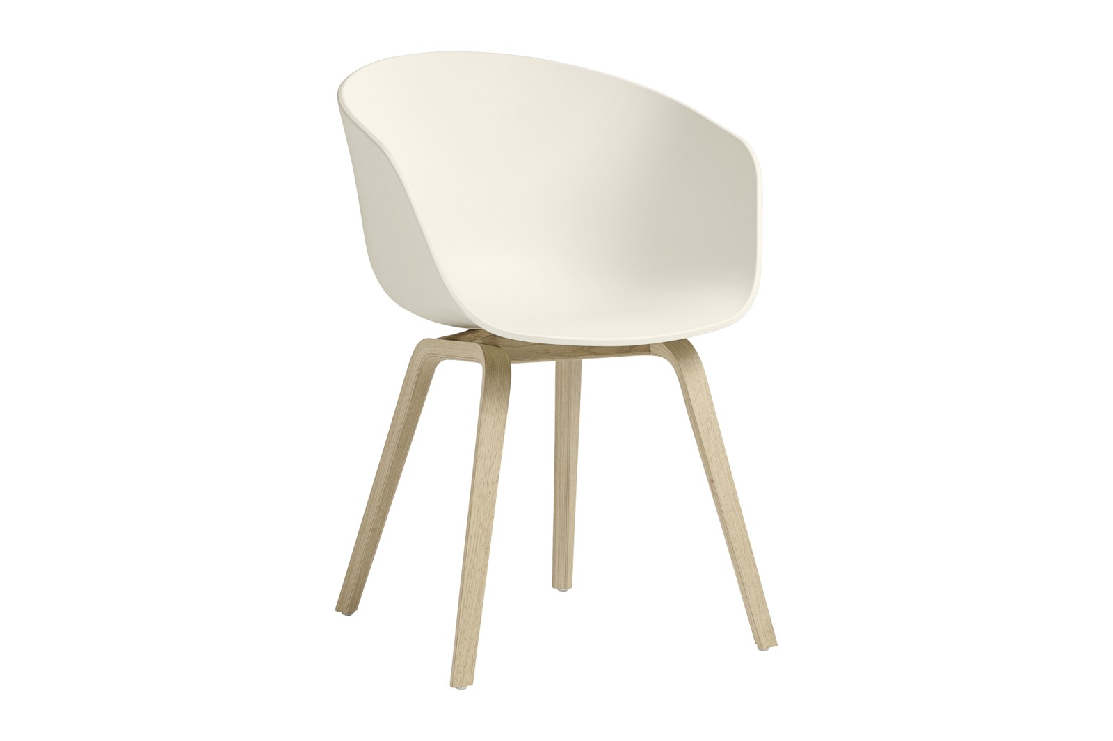 About A Chair AAC22 Cream White Seat, Matt Lacquered Oak Base