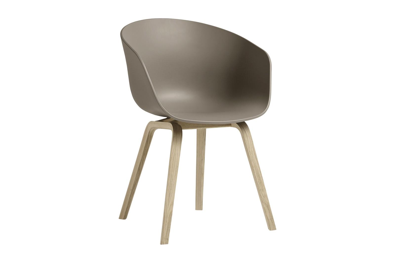 About A Chair AAC22 Khaki Seat, Matt Lacquered Oak Base