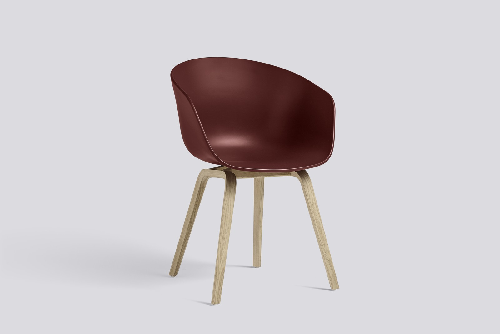 About A Chair AAC22 Brick Seat, Matt Lacquered Oak Base