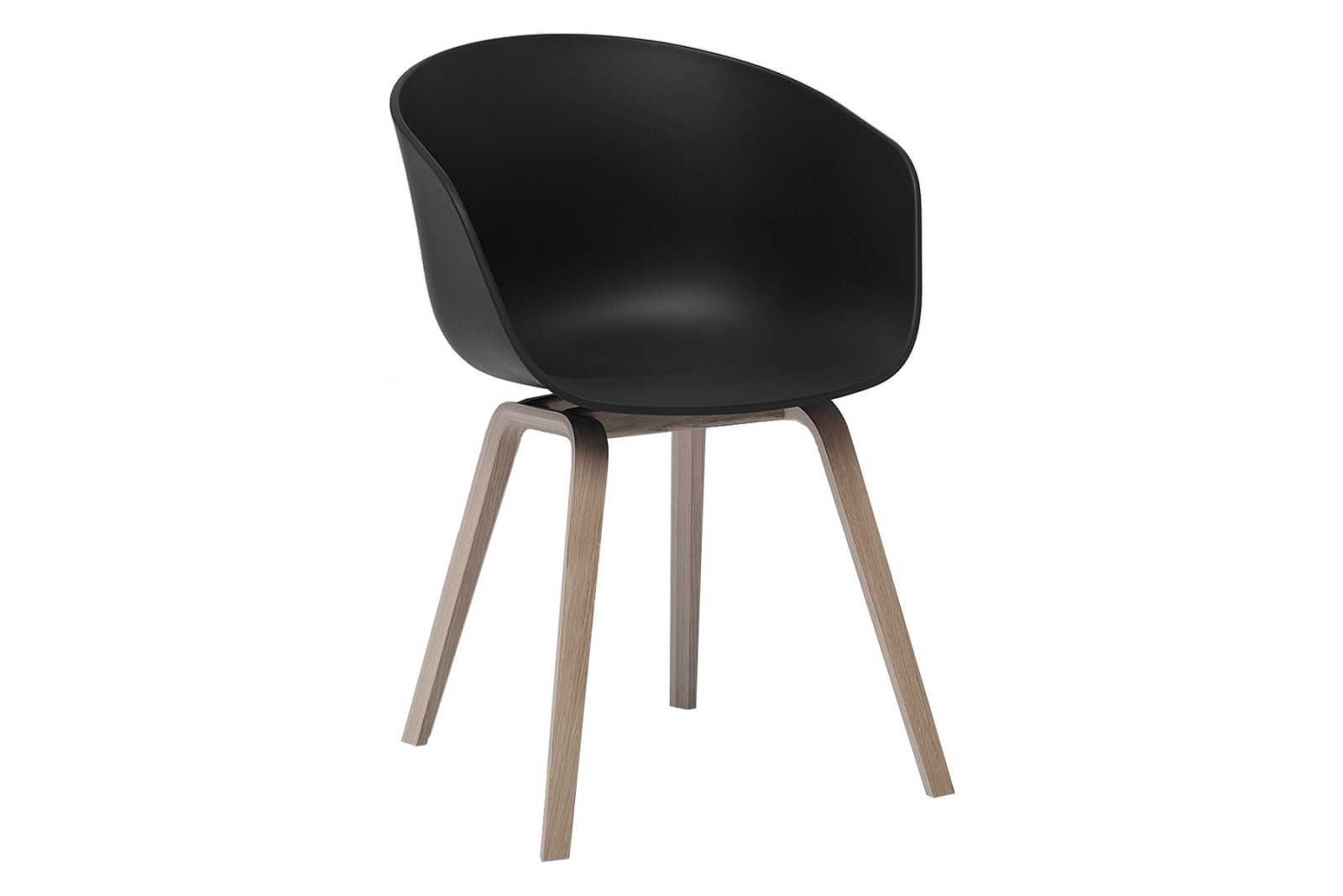 About A Chair AAC22 Black Seat, Soap Treated Oak Base