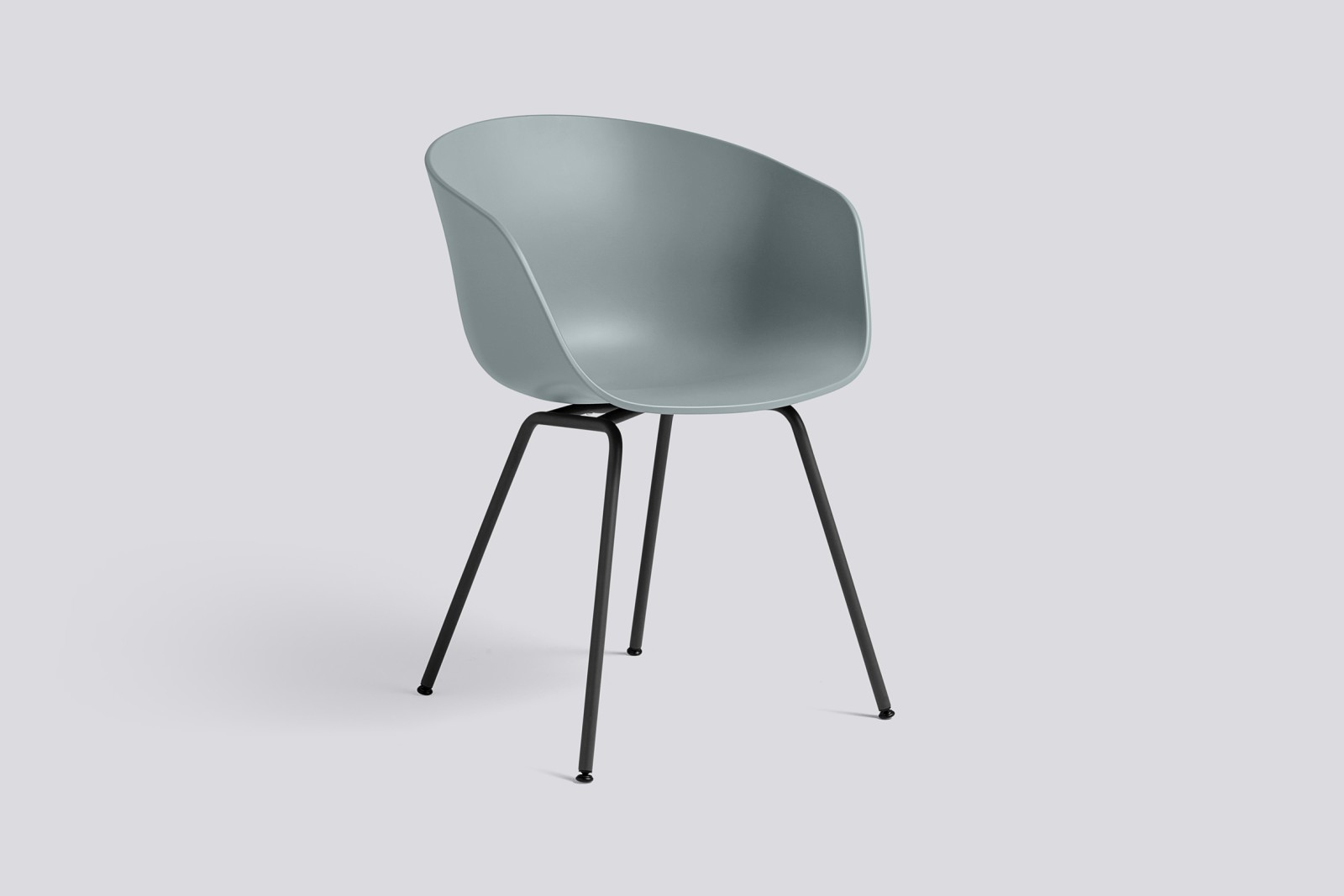 About A Chair AAC26 Dusty blue, Black Powder Coated Steel