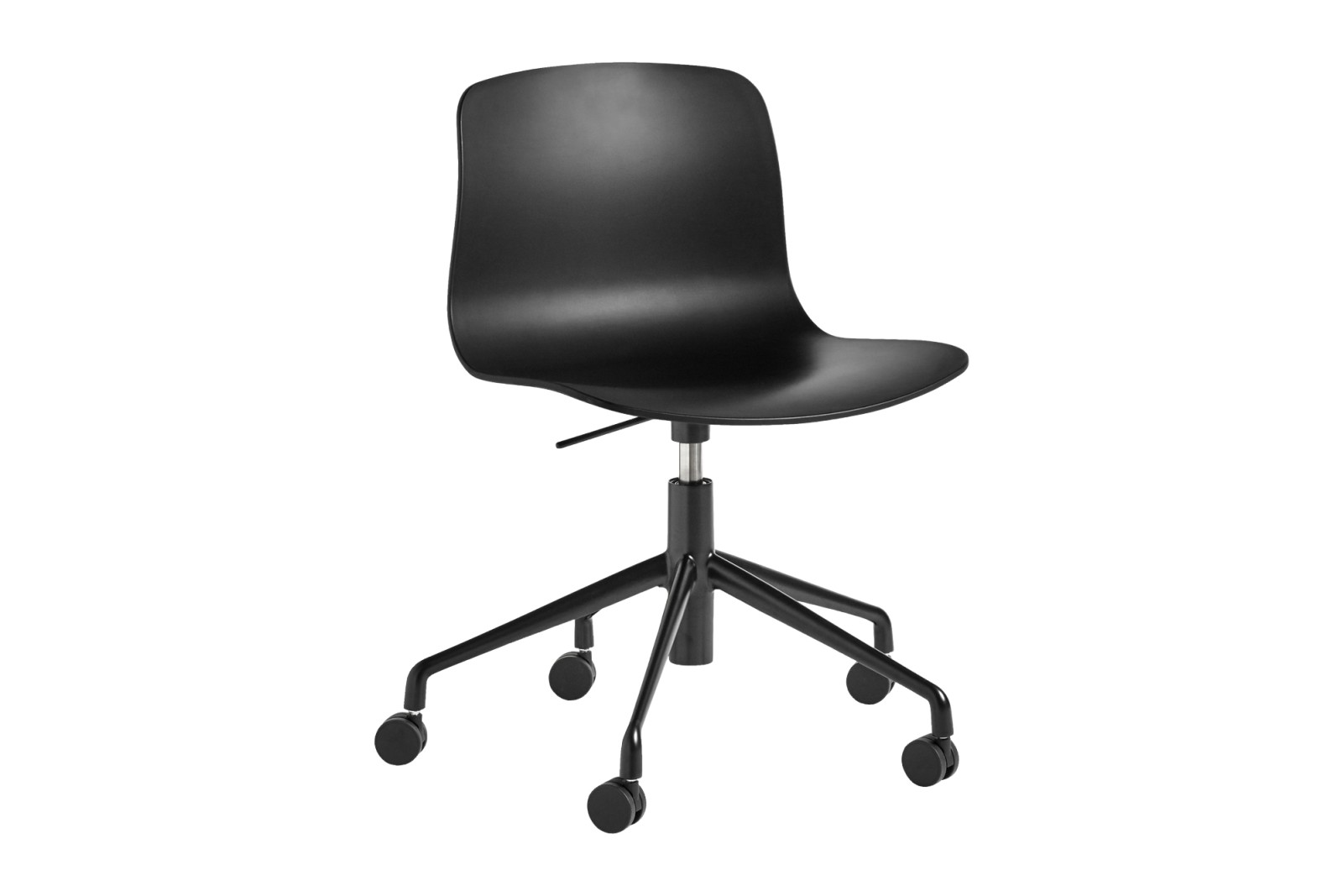 About A Chair AAC50 Black, White Powder Coated Steel