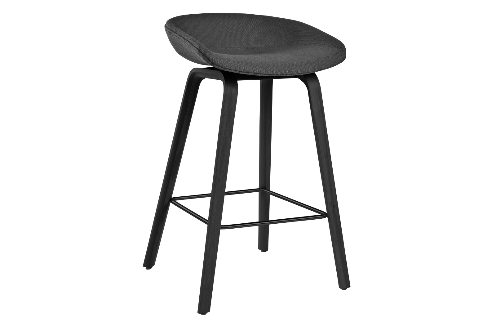 About A Stool AAS33 Low Stool, Black Stained Legs Steelcut 2 110
