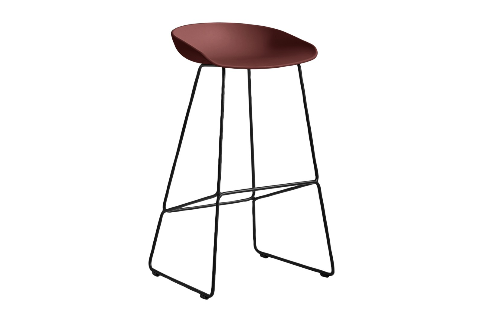 About A Stool AAS38 Brick Seat and Black Base, High