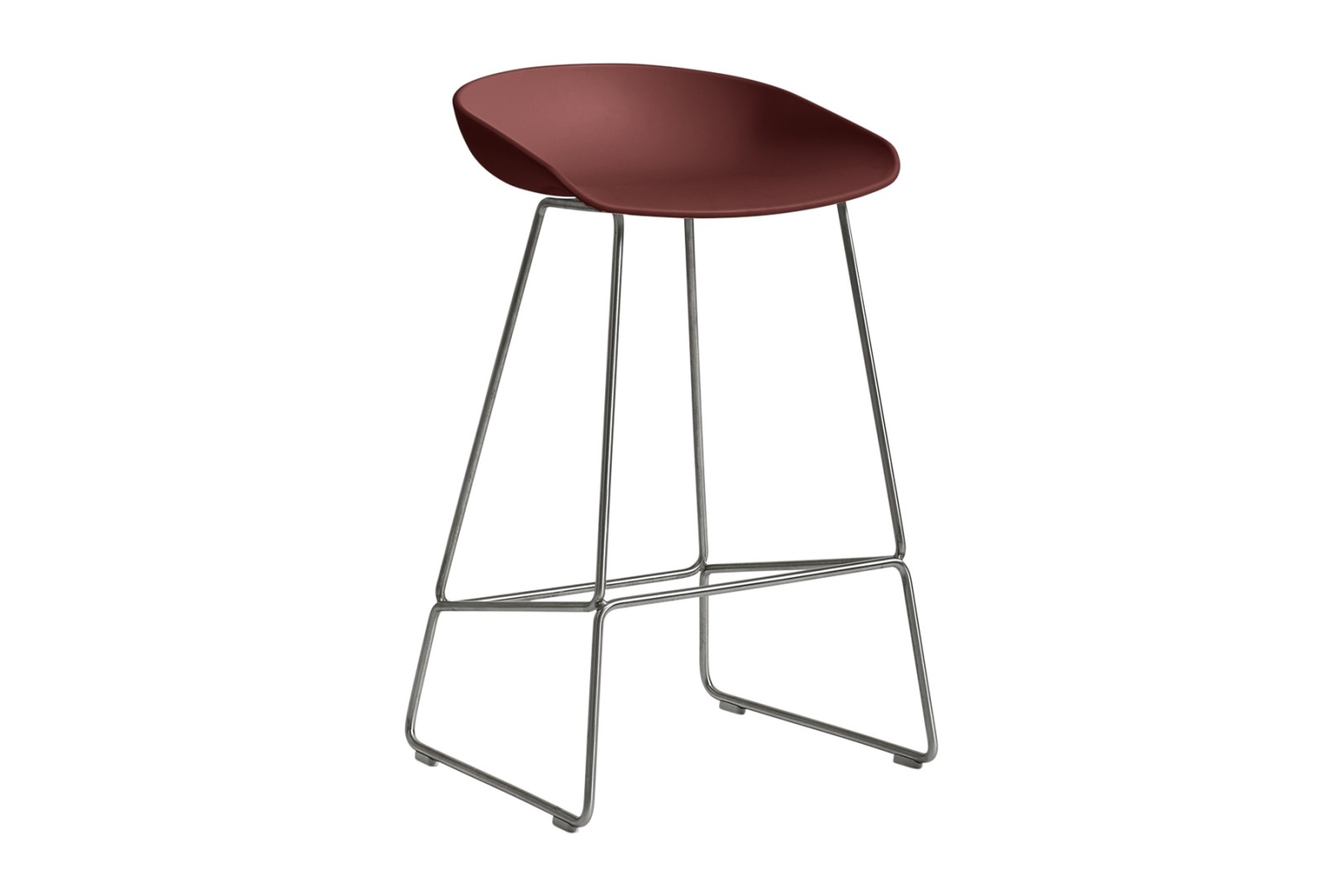 About A Stool AAS38 Brick Seat and Stainless Steel Base, Low