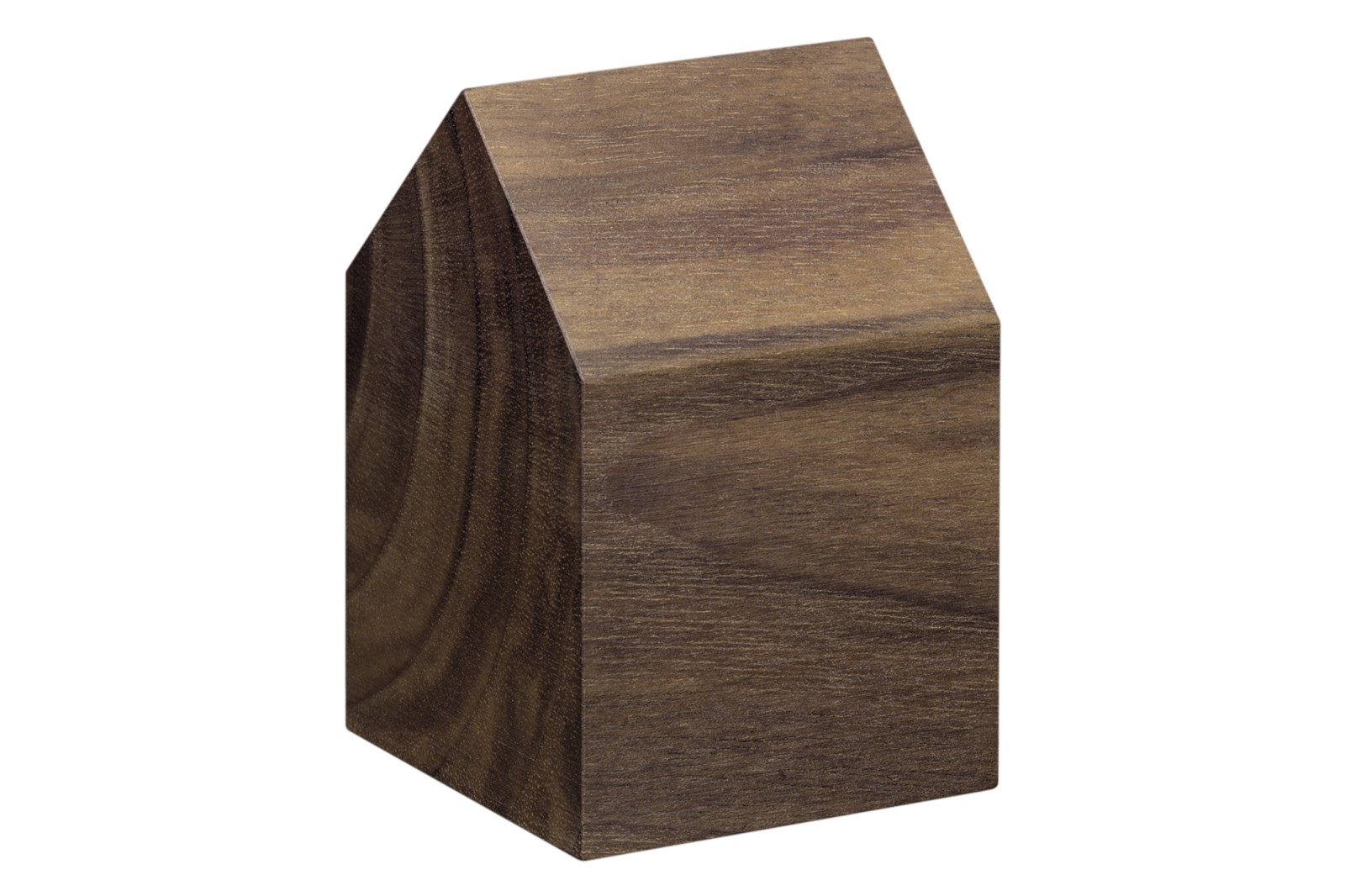 AC10 Haus Paper Weight, Saddle Roof Oiled Walnut, Short
