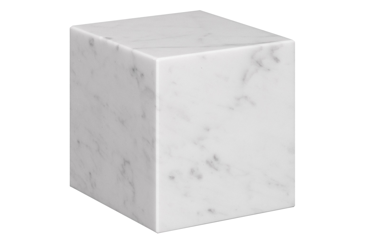 AC11 Stop Bookend White Marble, Short