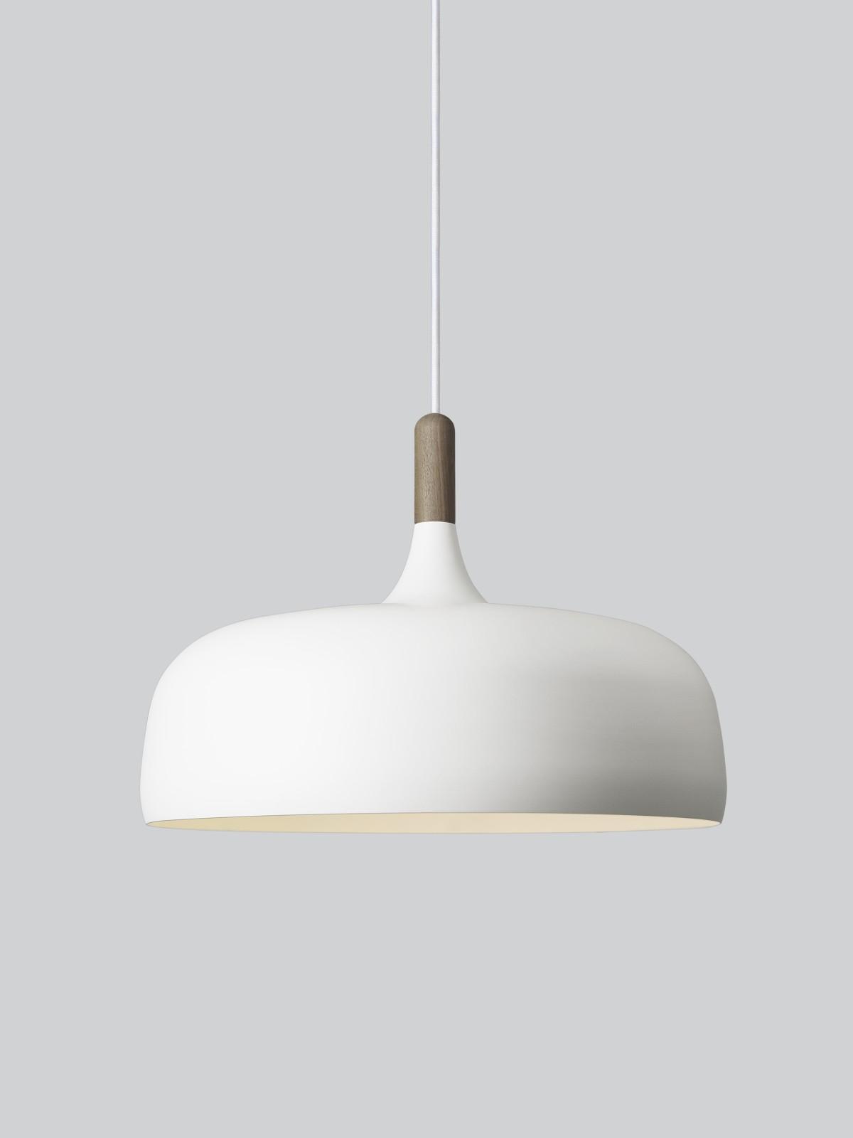 Acorn Pendant Light Walnut, Off White