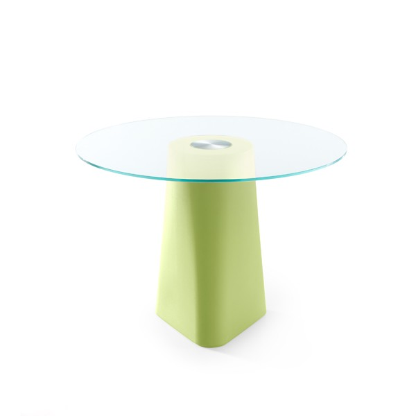 Adam Dining Table Pastel Green, Crystal Transparent