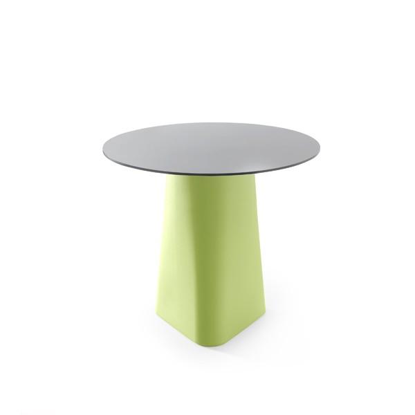 Adam Dining Table Pastel Green, Black Laminate
