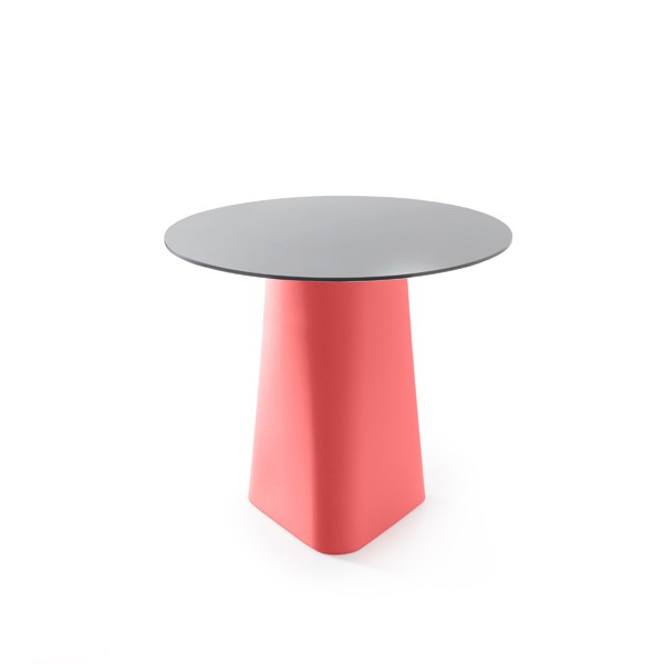 Adam Dining Table Coral Red, Black Laminate