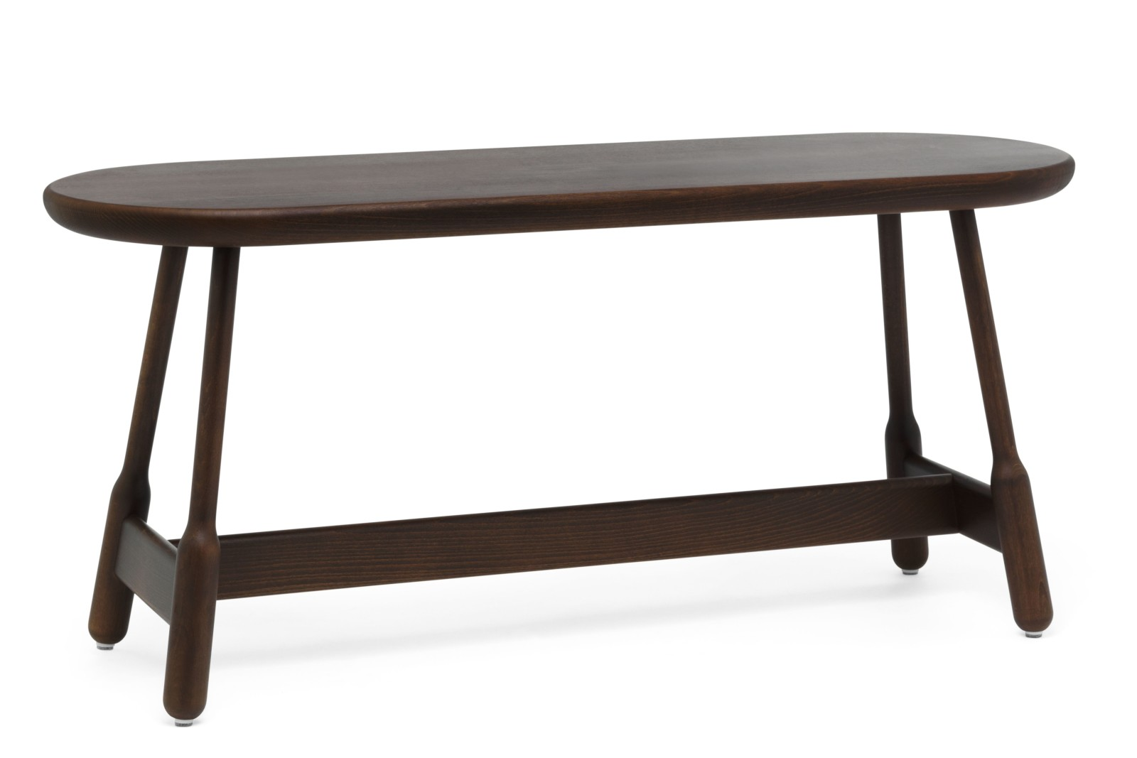 Albert Bench Walnut Stained Beech, 110cm