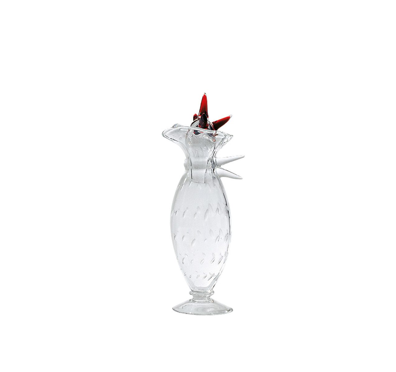 Alessandra Jug Clear and Red
