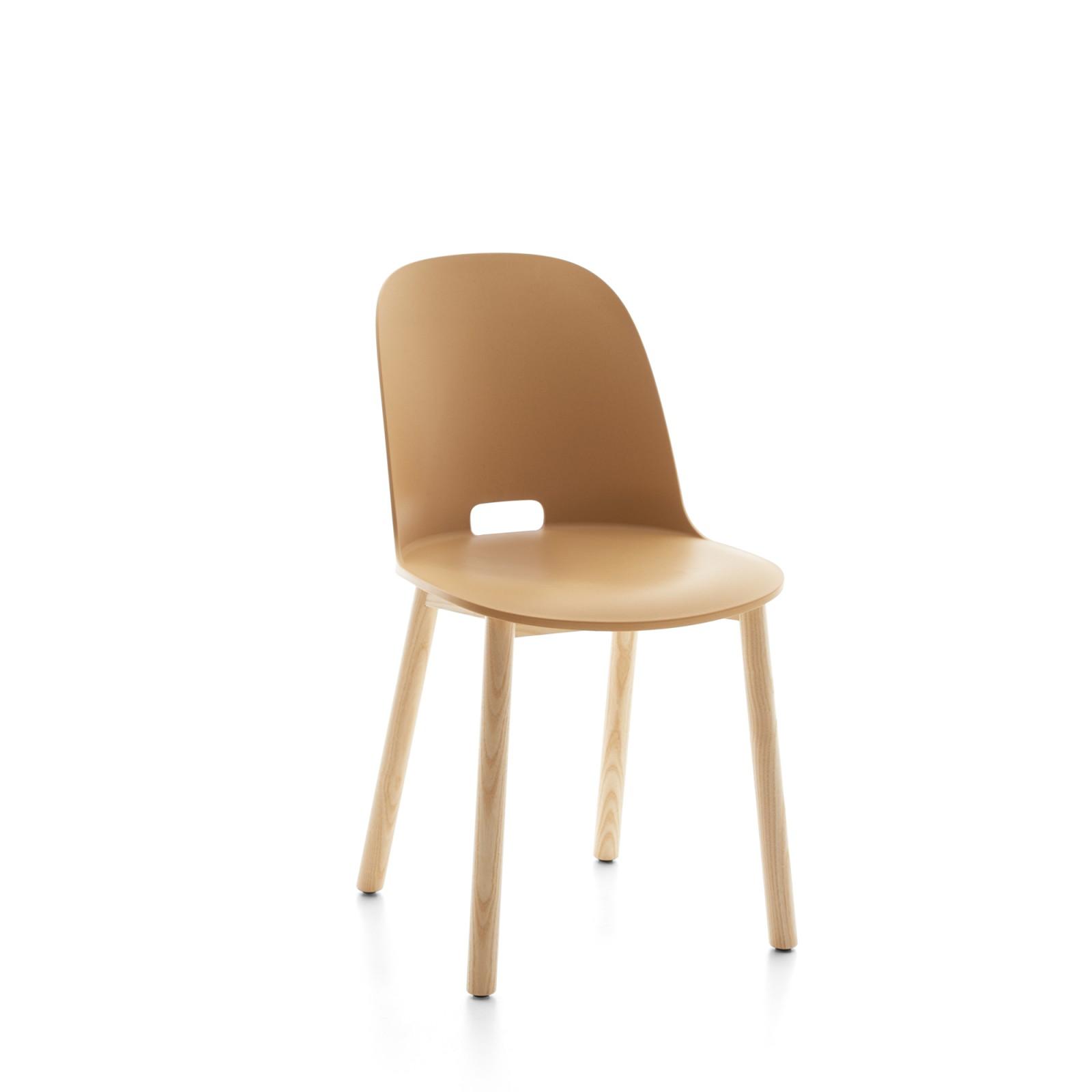 Alfi Chair, High Back Sand, Natural Light Ash Frame
