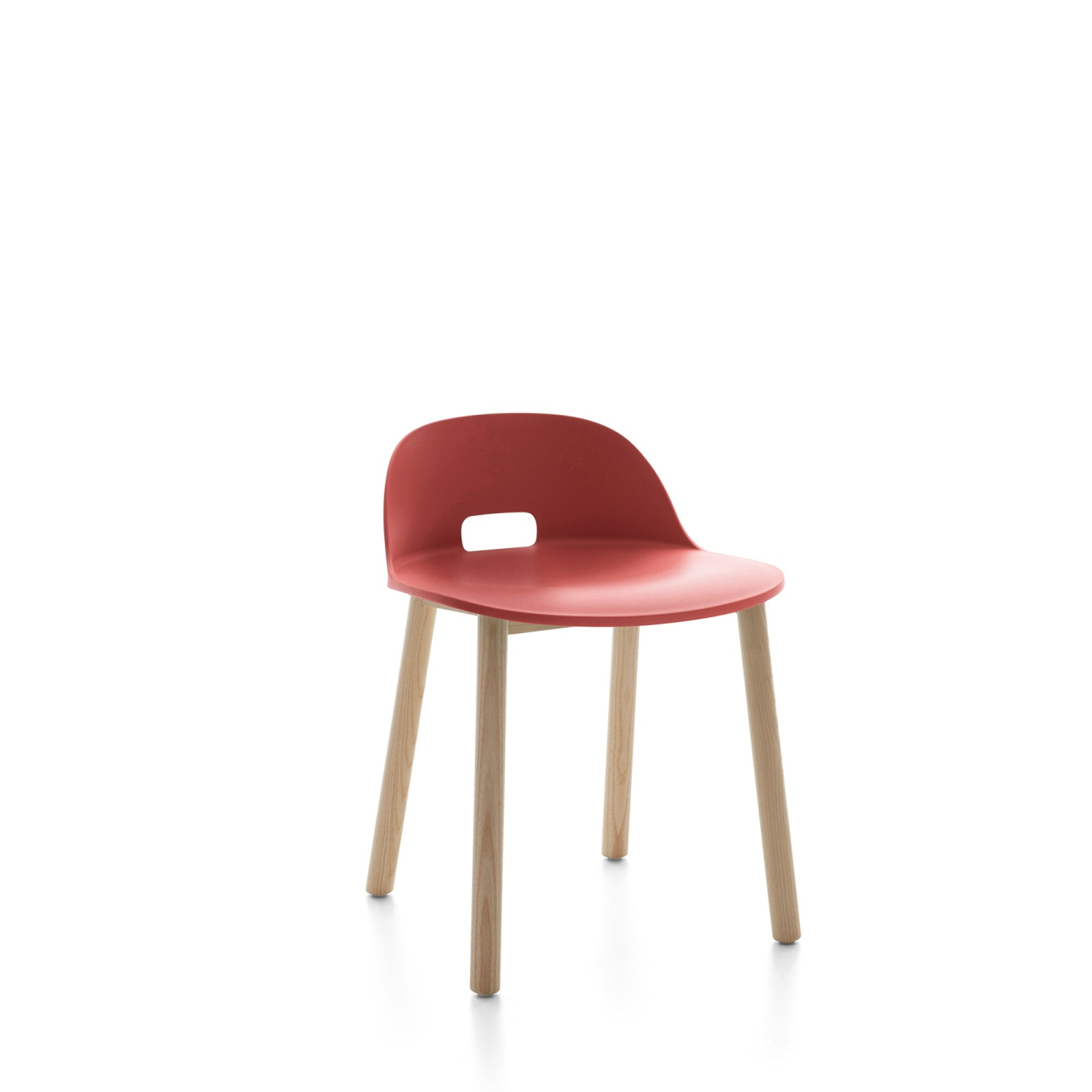Alfi Chair, Low Back Red, Natural Light Ash Frame