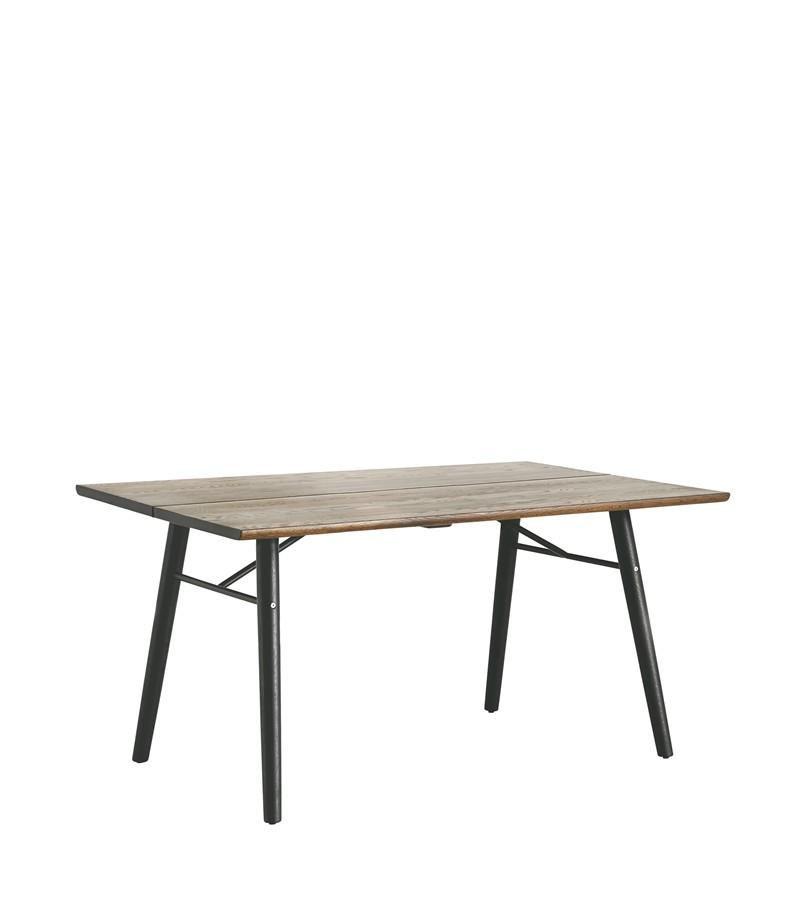 Alley Dining Table Smoke Oak, Black, 180