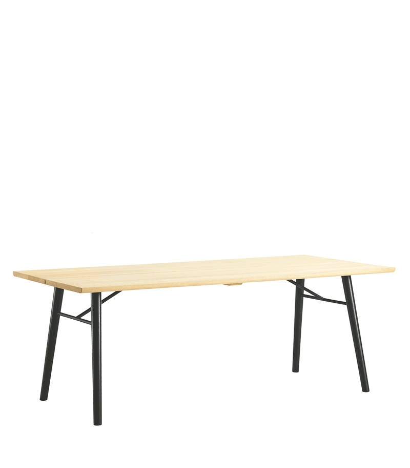 Alley Dining Table Oak, Black, 240