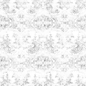 Almost White Delft Baroque Wallpaper Almost White Delft Baroque Wallpaper