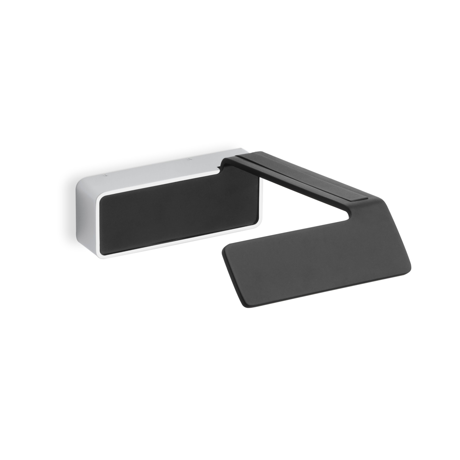 Alpha 7950 Wall Light Matt Black Lacquer and Crome