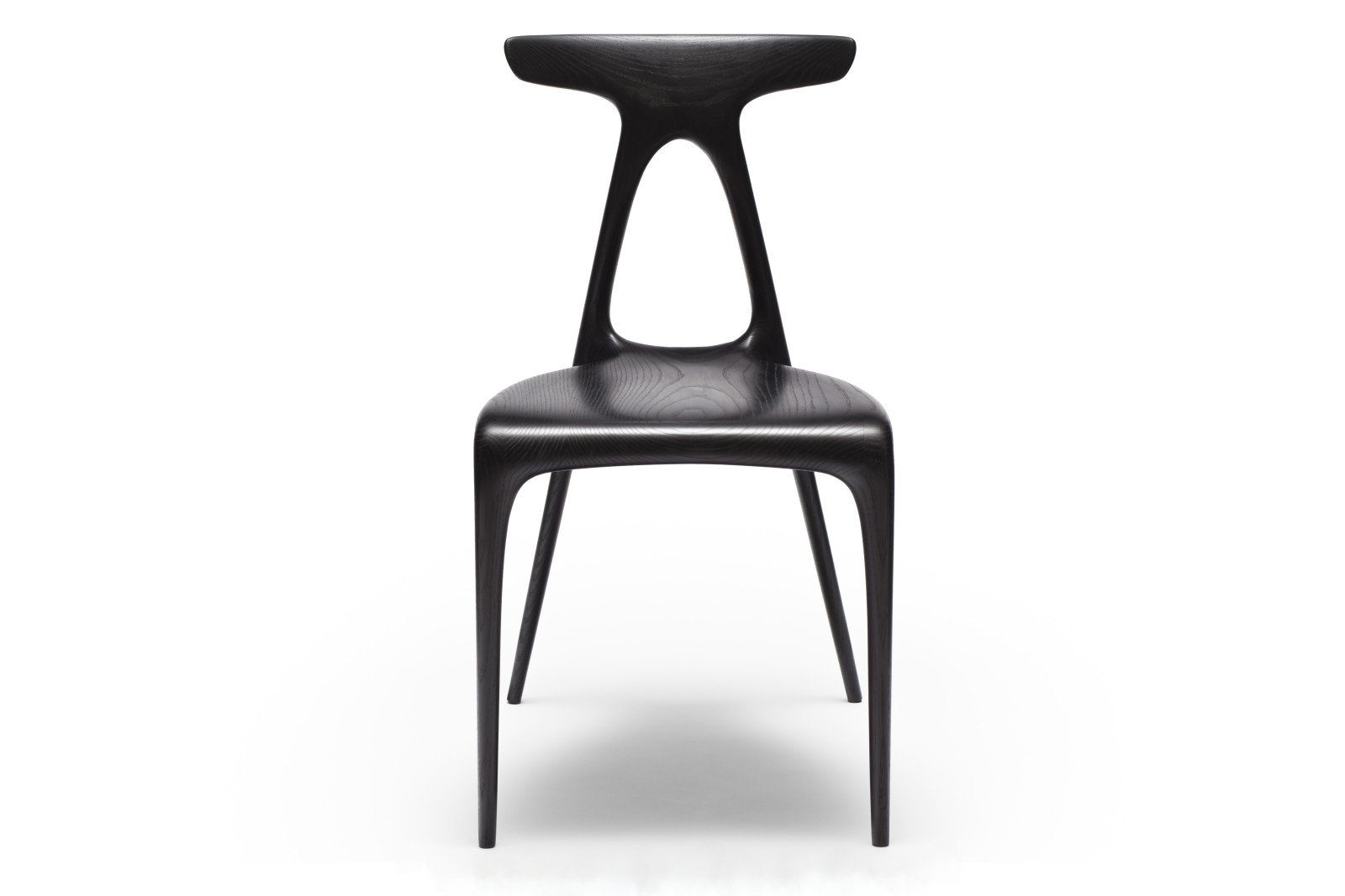 Alpha Dining Chair Solid Ebonised Ash
