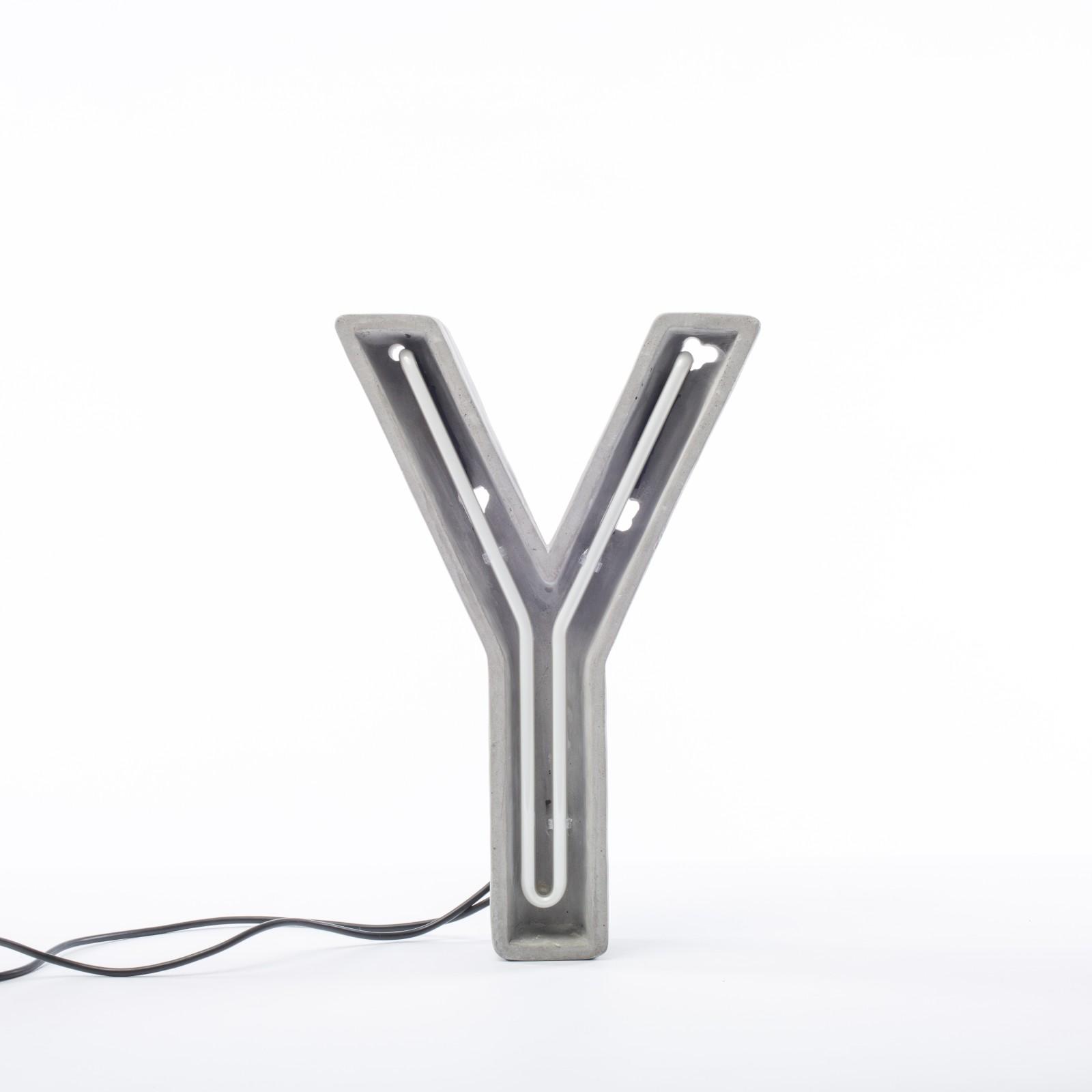 Alphacrete Alphabet Lamp Y