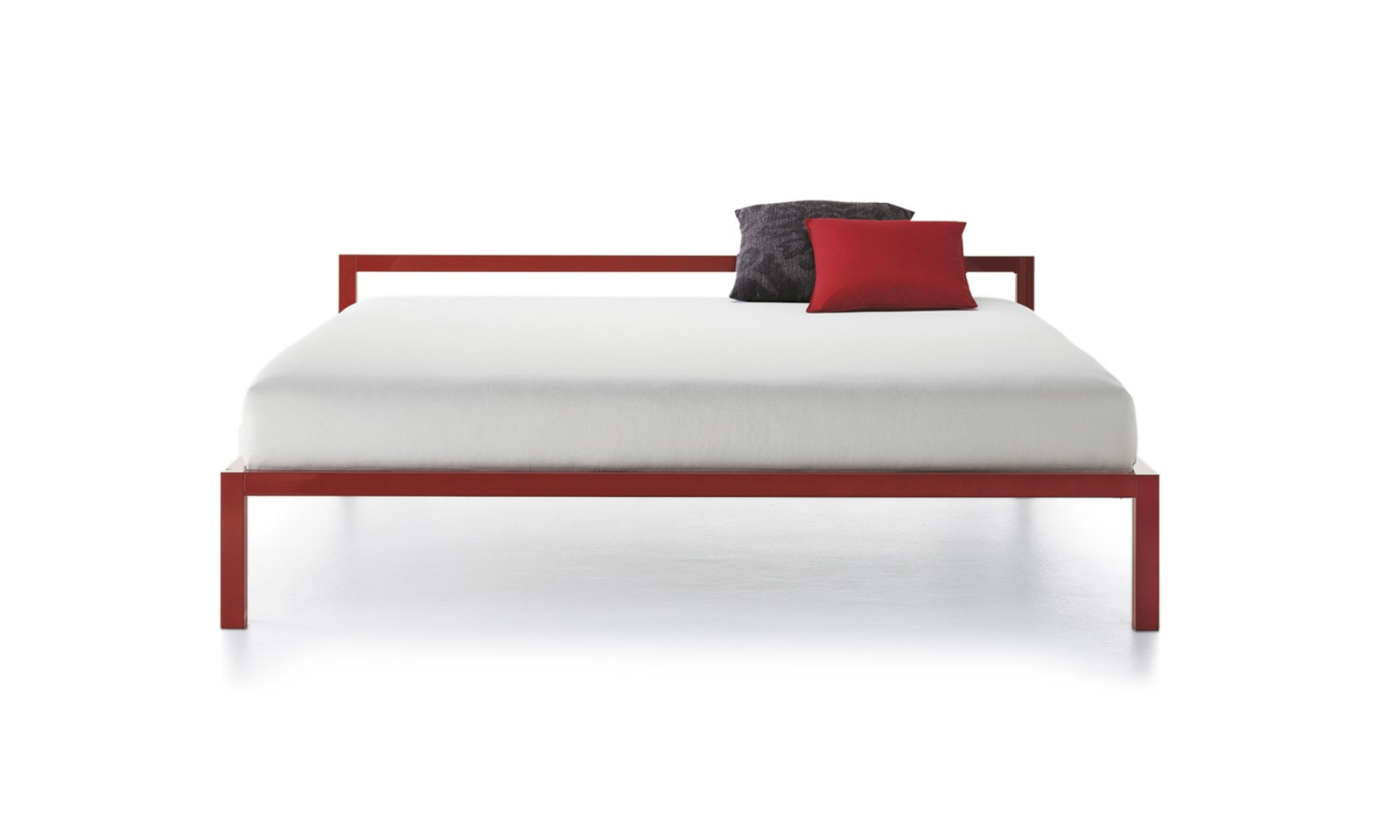 Aluminium Bed Without Head Panel, Lacquered 170cm, Gloss Red