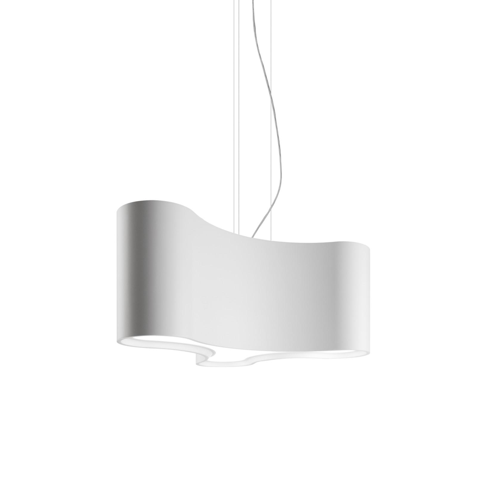 Ameba Single Pendant Light Matt White Lacquer