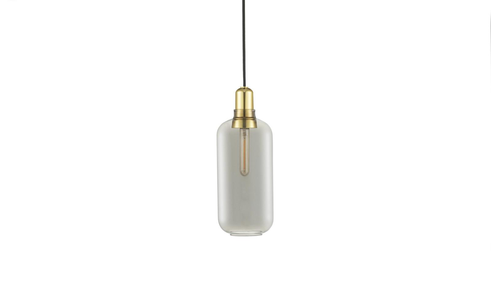 Amp Pendant Light Smoke/Brass, Large