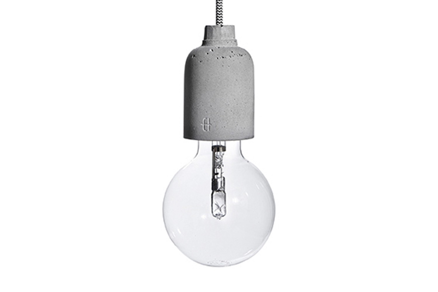 Ampulla Pic Concrete Pendant Light 200 cm Cable Lenght