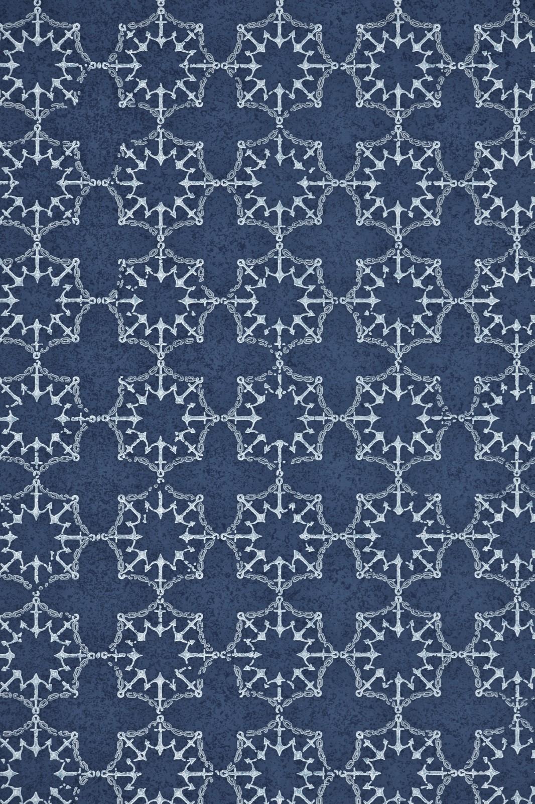 Anchor Tile Wallpaper Marine