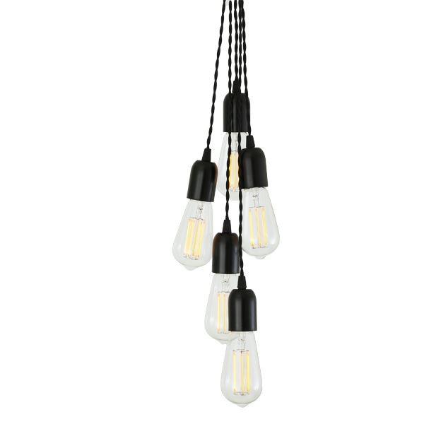 Aneho Cluster Pendant Light Powder Coated Black