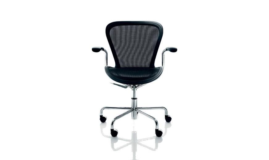 Annett Office Chair Matt Black, Chromed Base