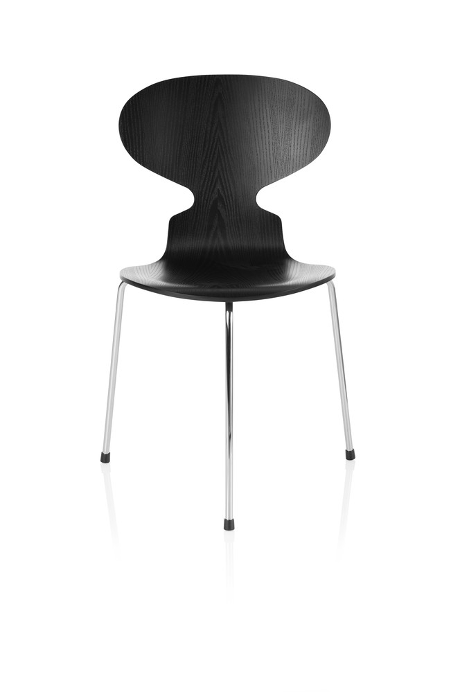Ant Dining Chair - 3 Legs Coloured ash Black 195