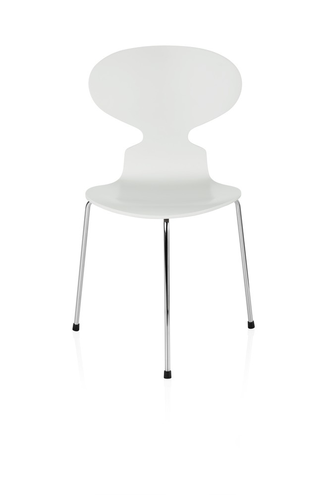 Ant Dining Chair - 3 Legs Lacquered White 100