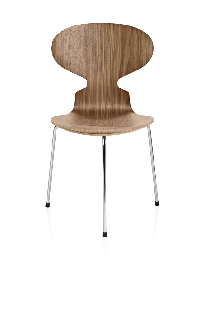 Ant Dining Chair - 3 Legs Natural veneer Walnut