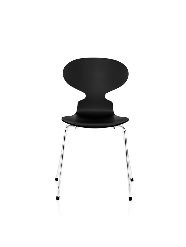 Ant Dining Chair-4 Legs Lacquered, full dark stained oak Black 190