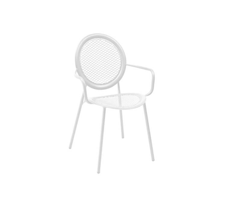 Antonietta Armchair - Set of 4 Matt White