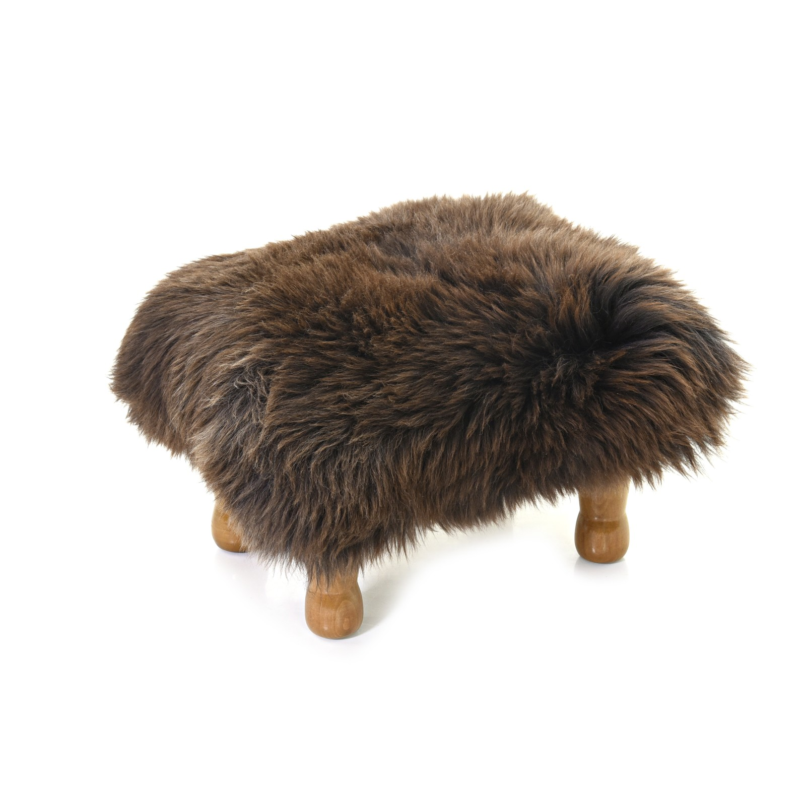 Anwen Sheepskin Footstool Chocolate