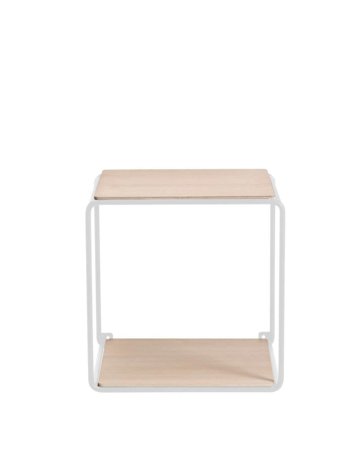 Anywhere System Shelf Anywhere 1 x 1 w. 2 shelves White/Oak