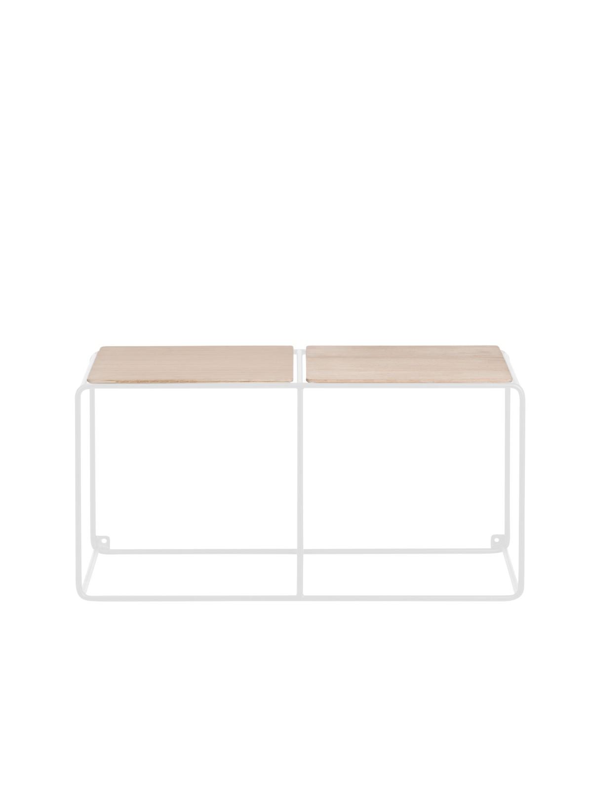 Anywhere System Shelf Anywhere 1 x 2 w. 2 shelves White/Oak