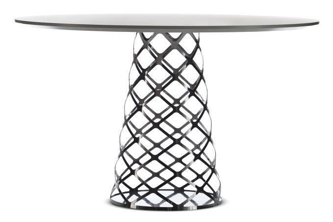 Aoyama Dining Table Black Laminate/Black - 120 x 73 cm