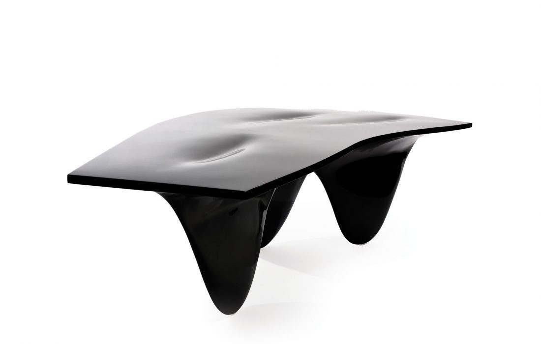 Aqua Table High-Gloss Black