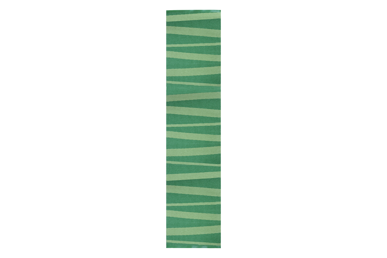 Ã…re Striped Rug Green, 300x70