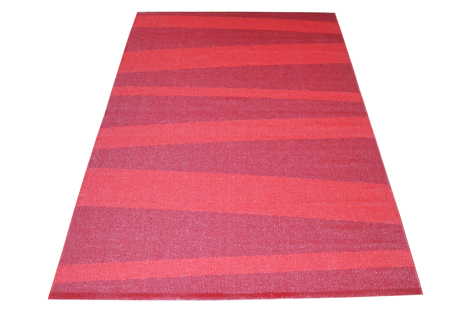 Ã…re Striped Rug Red Wine, 220x140